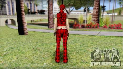 Rock Chicks Red Ped для GTA San Andreas второй скриншот