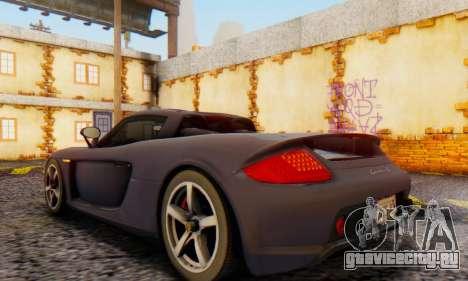 Porsche Carrera GT 2005 для GTA San Andreas вид сзади слева