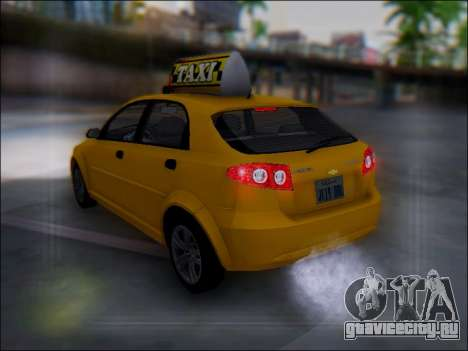 Chevrolet Lacetti Taxi для GTA San Andreas вид снизу