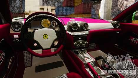 Ferrari 599 GTO PJ1 для GTA 4 вид изнутри