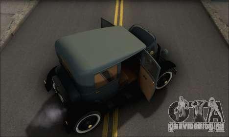 Ford T 1927 для GTA San Andreas вид сбоку