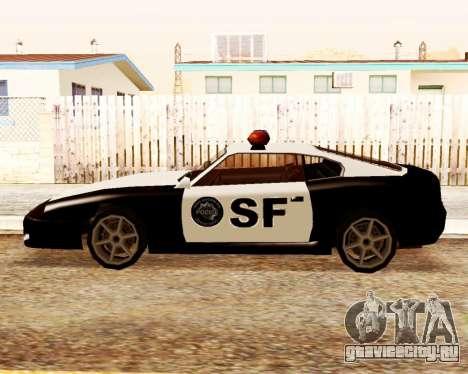 Jester Police SF для GTA San Andreas вид слева