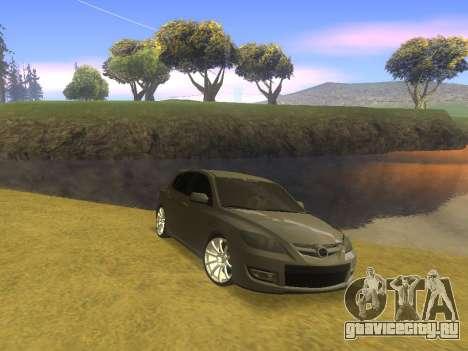 Mazda 3 v2 для GTA San Andreas вид сзади слева