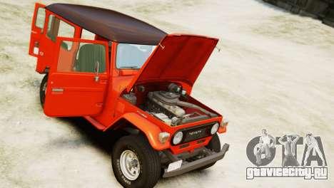 Toyota FJ40 Land Cruiser 1978 Beta для GTA 4 вид справа