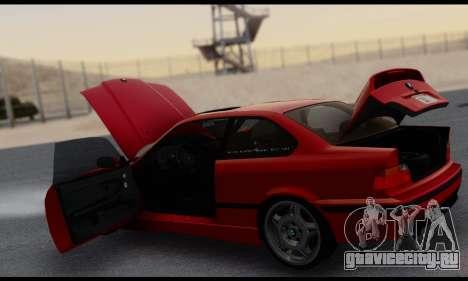 BMW M3 E36 1994 для GTA San Andreas вид снизу