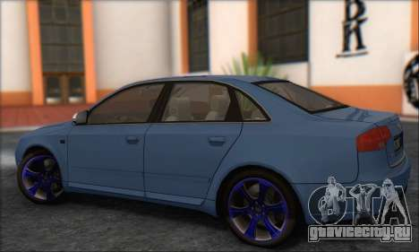 Audi S4 4.0 Quattro 2006 для GTA San Andreas вид справа