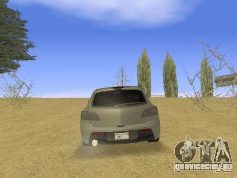 Mazda 3 v2 для GTA San Andreas вид справа