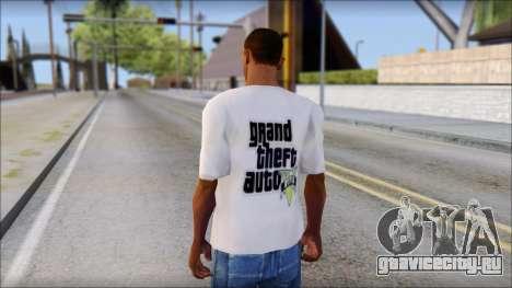 GTA 5 Fan T-Shirt для GTA San Andreas второй скриншот