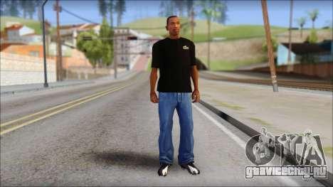 Black Izod Lacoste T-Shirt для GTA San Andreas третий скриншот