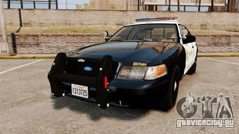 Ford Crown Victoria Sheriff [ELS] Marked для GTA 4