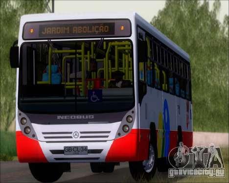 Neobus Mega IV - TCA (Araras) для GTA San Andreas вид сзади