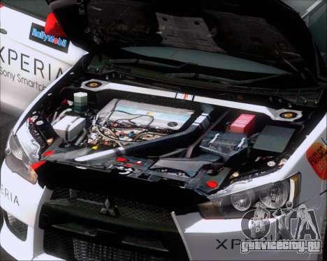 Mitsubushi Lancer Evolution Rally Team Claro для GTA San Andreas вид снизу