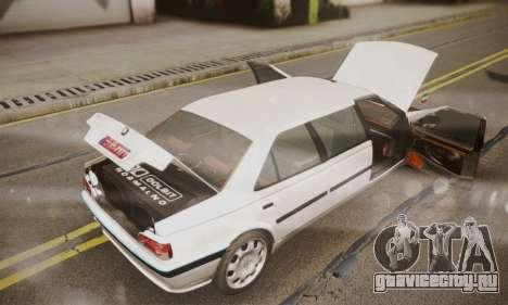 Peugeot Pars Limouzine для GTA San Andreas вид изнутри