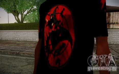 Uchiha Itachi T-Shirt для GTA San Andreas второй скриншот