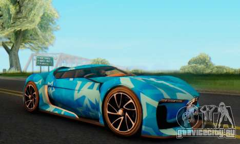 Citroen GT Blue Star для GTA San Andreas вид слева