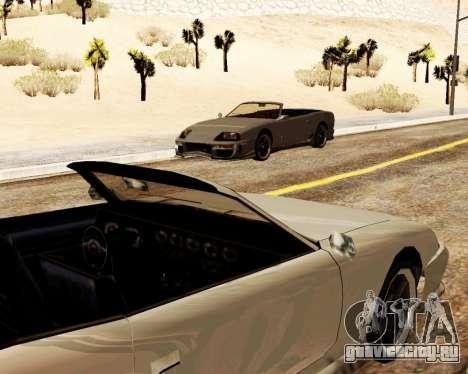 Jester Кабриолет для GTA San Andreas вид изнутри
