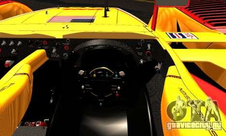 Porsche RS Spyder Evo 2008 для GTA San Andreas вид изнутри