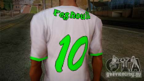 Algerian Football T-Shirt для GTA San Andreas третий скриншот