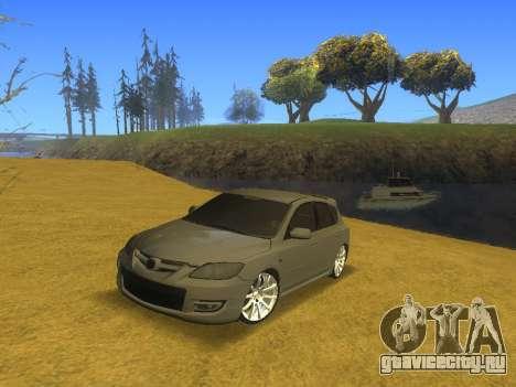 Mazda 3 v2 для GTA San Andreas вид сзади