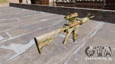 Автоматический карабин М4А1 Green cane Camo для GTA 4 второй скриншот