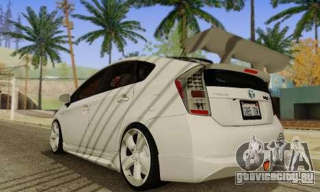 Toyota Prius Tunable для GTA San Andreas вид справа