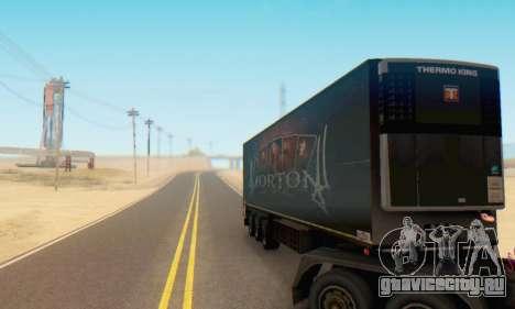 Прицеп Chereau Morton Band 2014 для GTA San Andreas вид сзади