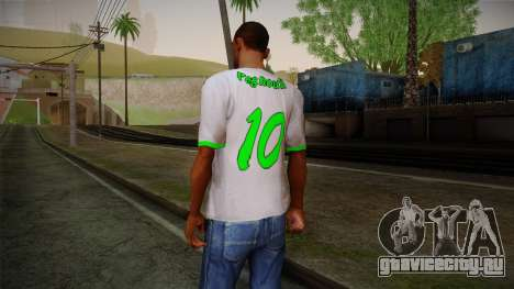 Algerian Football T-Shirt для GTA San Andreas второй скриншот