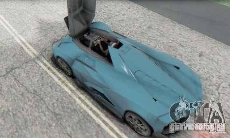 Lamborghini Egoista Concept 2013 для GTA San Andreas вид изнутри