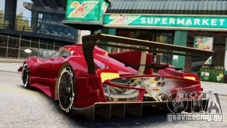 Pagani Zonda Autosport для GTA 4 вид слева