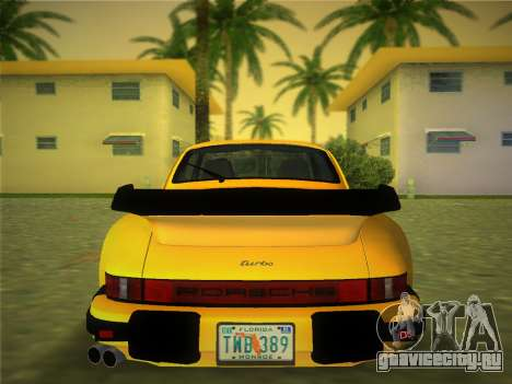 Porsche 911 Turbo 3.3 Coupe US-spec (930) 1978 для GTA Vice City вид сзади слева