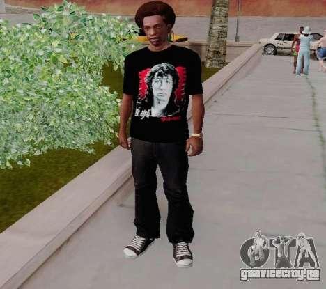 Футболка c Виктором Цоем для GTA San Andreas второй скриншот