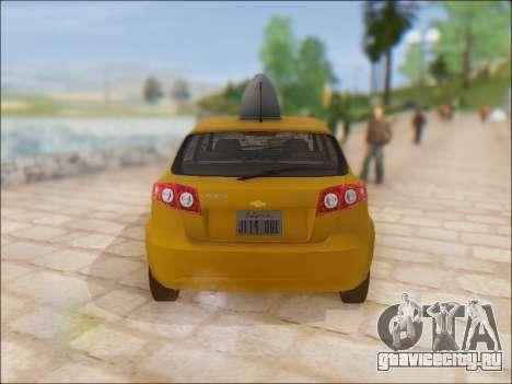 Chevrolet Lacetti Taxi для GTA San Andreas вид справа