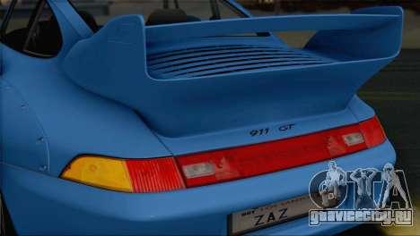 Porsche 911 GT2 (993) 1995 V1.0 SA Plate для GTA San Andreas вид сверху