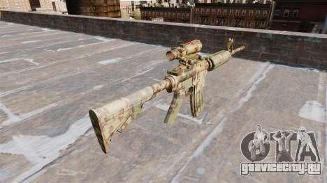 Автоматический карабин М4А1 Guerrilla Camo для GTA 4 второй скриншот