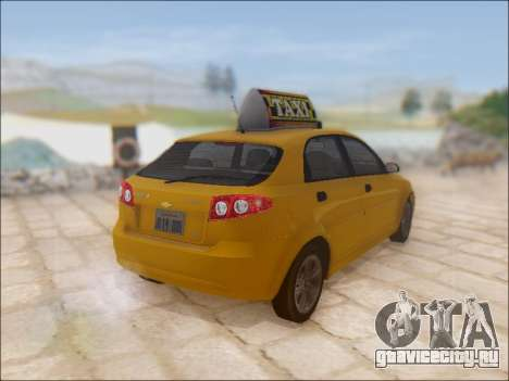 Chevrolet Lacetti Taxi для GTA San Andreas вид сзади