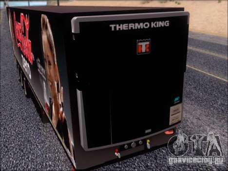 Прицеп Chereau Coca Cola Zero Truck для GTA San Andreas вид изнутри