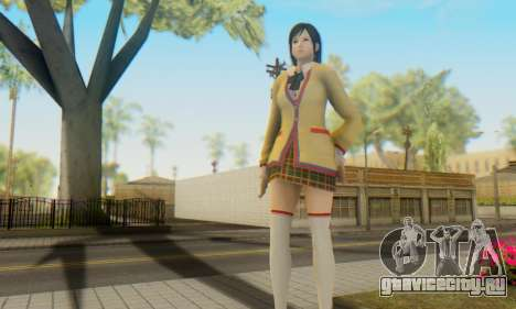 Kokoro wearing a school uniform (DOA5) для GTA San Andreas четвёртый скриншот