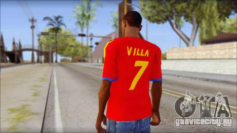 Spanish Football Shirt для GTA San Andreas второй скриншот
