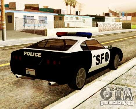 Jester Police SF для GTA San Andreas вид сзади слева