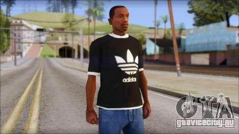 Adidas Black T-Shirt для GTA San Andreas