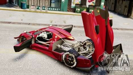 Pagani Zonda Autosport для GTA 4 вид сзади слева
