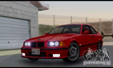 BMW M3 E36 1994 для GTA San Andreas вид сзади