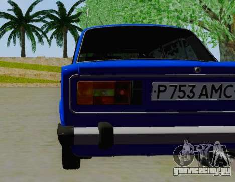 ВАЗ 21061 для GTA San Andreas вид сзади
