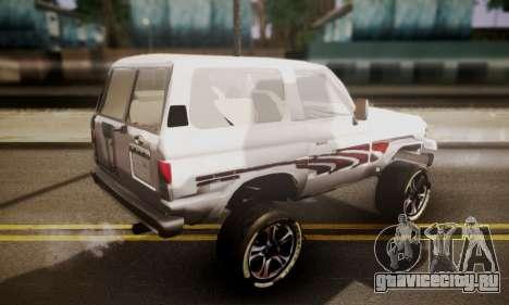 Toyota Land Cruiser LC 70 для GTA San Andreas вид слева