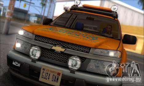 Chevrolet Colorado Cleaning для GTA San Andreas