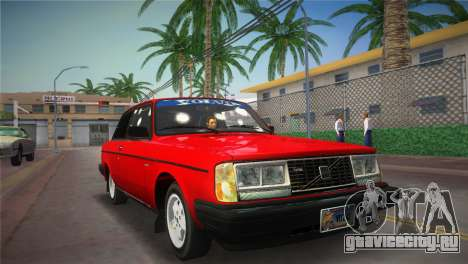 Volvo 242 Turbo Evolution для GTA Vice City вид сзади слева