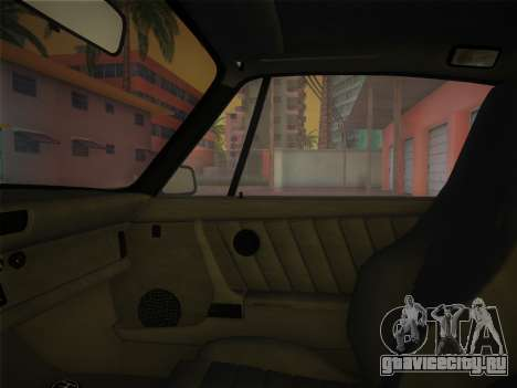Porsche 911 Turbo 3.3 Coupe US-spec (930) 1978 для GTA Vice City вид изнутри