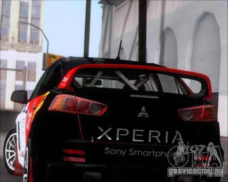 Mitsubushi Lancer Evolution Rally Team Claro для GTA San Andreas колёса