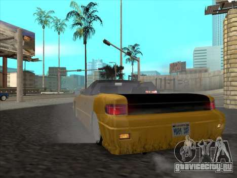 Alpha HD Cabrio для GTA San Andreas вид справа