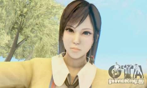 Kokoro wearing a school uniform (DOA5) для GTA San Andreas